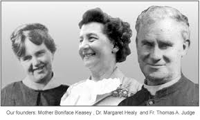 Mother Boniface, Margaret Healy, Fr. Judge.